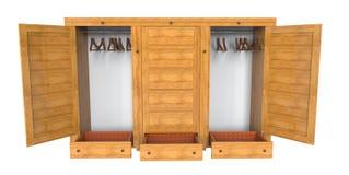Wooden wardrobe Stock Photography