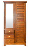 Wooden wardrobe isolated Stock Photography