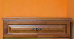 Wooden wardrobe Stock Photo