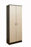 Wooden wardrobe on a white Royalty Free Stock Photo