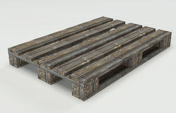 Wooden warehouse pallet Stock Photo