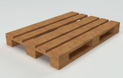 Wooden warehouse pallet Stock Photography