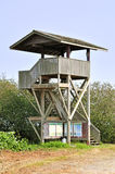 Wooden watch tower in Serpentine Wildlife Area to view landscape Royalty Free Stock Photography