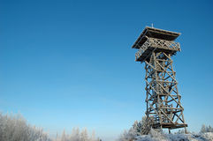 Wooden watch tower Royalty Free Stock Photo