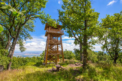 Wooden watch tower Royalty Free Stock Photos