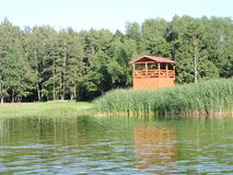 Wooden watching tower, Lithuania Royalty Free Stock Photos