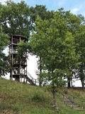Wooden watching tower, Lithuania Stock Image