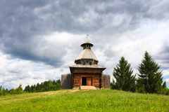 Wooden watchtower Stock Photo