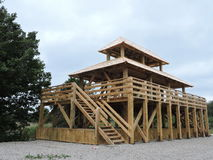 Wooden watchtower Royalty Free Stock Photos