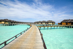Wooden water bungalows, Maldives Royalty Free Stock Photo
