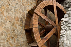 Wooden water-mill Royalty Free Stock Images
