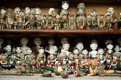 Wooden water puppet dolls, Hanoi, Vietnam Royalty Free Stock Image