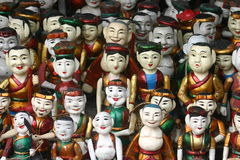Wooden Water Puppets. For sale in Hanoi, Vietnam Stock Image