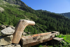Wooden water tap Royalty Free Stock Images