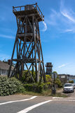 Wooden water towers in Mendocino, California Royalty Free Stock Images