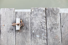 The wooden waterside Stock Photos