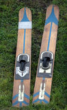 Wooden waterski pair Royalty Free Stock Photography