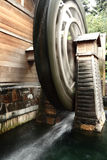 Wooden waterwheel royalty free stock photo