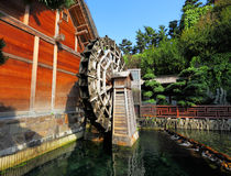 Wooden waterwheel Stock Photography