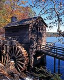 Wooden waterwheel, Atlanta, USA. Royalty Free Stock Image