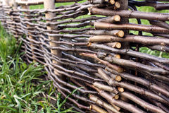 Wooden wattle-fence Stock Photo