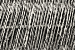 Wooden wattled fence background Stock Photos
