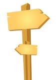 Wooden way board - vector Royalty Free Stock Image