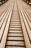 Wooden way. The bridge made from wood Stock Images