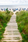 Wooden way to sea. Way to sea Stock Images
