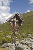 Wooden waycross in East Tyrol Stock Photos