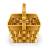 Wooden weave basket Stock Photo