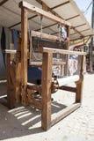 Wooden weaving loom Stock Photo