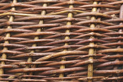 Wooden weaving pattern Royalty Free Stock Photo