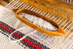 Wooden weaving whuttle Royalty Free Stock Image