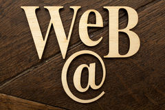 Wooden Web word Stock Images
