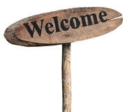 Wooden welcome sign royalty free stock photos
