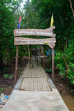Wooden welcome sign at Khao Khanabnam Ecotourism and Community L Stock Images