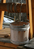 Wooden well bucket Stock Photo