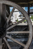 Wooden Well. In Romania, Neamt Stock Photo