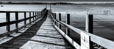 Wooden wharf Stock Image