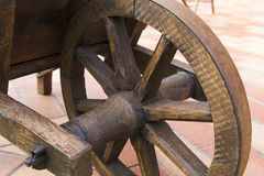 Wooden wheel Stock Images