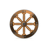 The wooden wheel. An ancient invention. Vector illustration isol Royalty Free Stock Photography