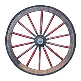 Wooden wheel with clipping path included. Wooden wheel isolated on white background with clipping path included stock images