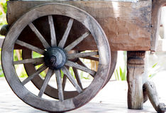 Wooden Wheel. Closeup of vintage wooden wheel royalty free stock photo