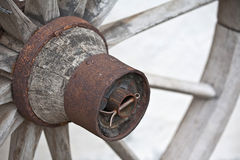 Wooden wheel detail Royalty Free Stock Images