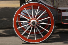 Wooden wheel of horse cart Stock Photography