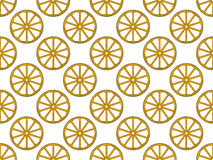 Wooden wheel pattern Royalty Free Stock Photography