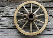 Wooden wheel Stock Image