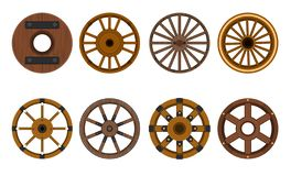 Free Wooden Wheel Vector Cartoon Set Icon.Vector Illustration Cart Of Wheel. Isolated Cartoon Icon Cartwheel For Wagon On Royalty Free Stock Photography - 164149617