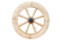 Wooden wheel. On a white background Stock Images